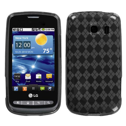 Smoke Argyle TPU Case for LG Vortex