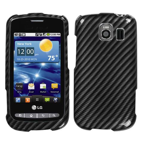 Carbon Fiber Stripes Hard Case for LG Vortex