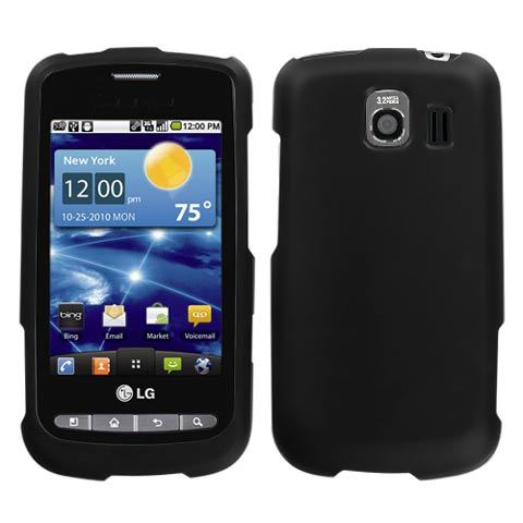 Black Rubberized Hard Case for LG Vortex