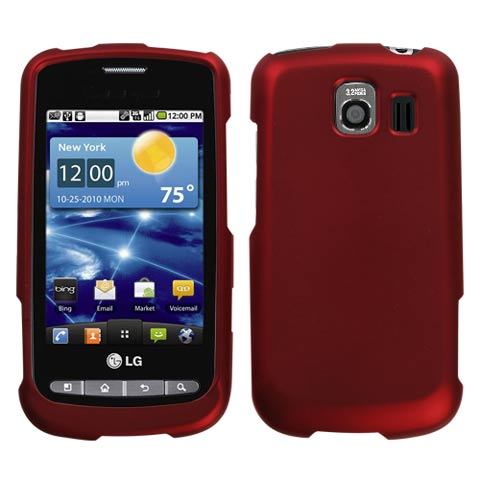 Red Rubberized Hard Case for LG Vortex