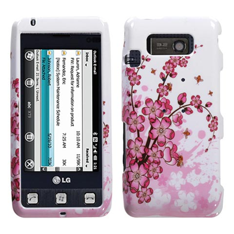 Pink Flowers Hard Case for LG Fathom