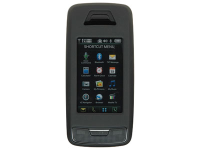 LG Voyager VX10000 Rubberized Hard Cover Case - Black