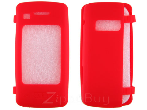 LG enV Touch VX11000 Silicone Skin Cover Case - Red
