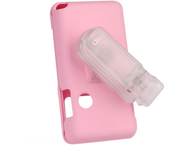 LG Chocolate VX8500   Rubberized Snap On Faceplate Case (Pink)