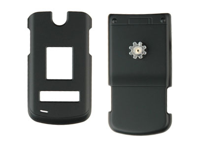 LG VX8600 Rubberized Snap On Faceplate Case (Black)