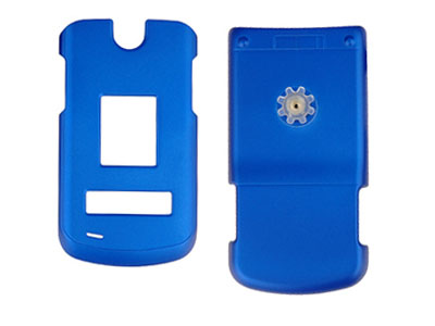 LG VX8600 Rubberized Snap On Faceplate Case (Blue)