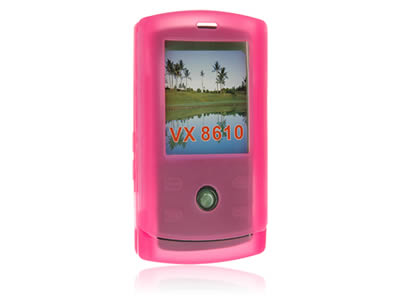 LG Decoy VX8610 Silicone Skin Cover Case - Hot Pink