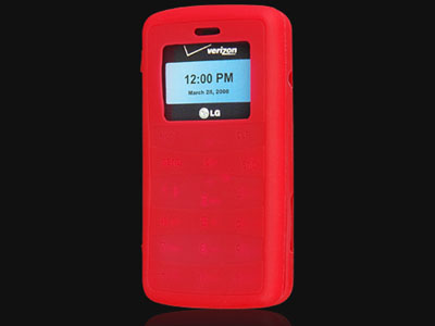 LG enV2 VX9100  Silicone Skin Case (Red)