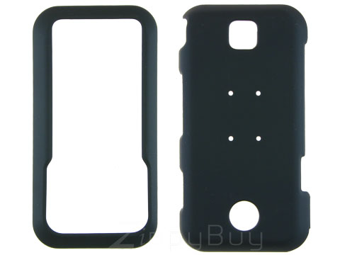Motorola Rival A455 Rubberized Hard Cover Case - Black