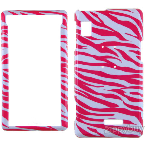 Motorola DROID Hard Cover Case - Red Zebra
