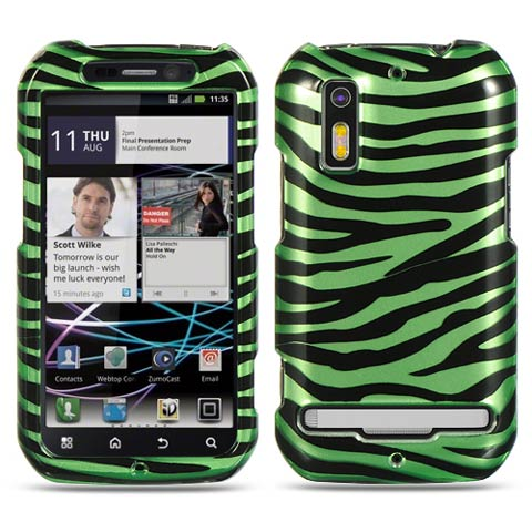 Green Zebra Hard Case for Motorola Photon 4G