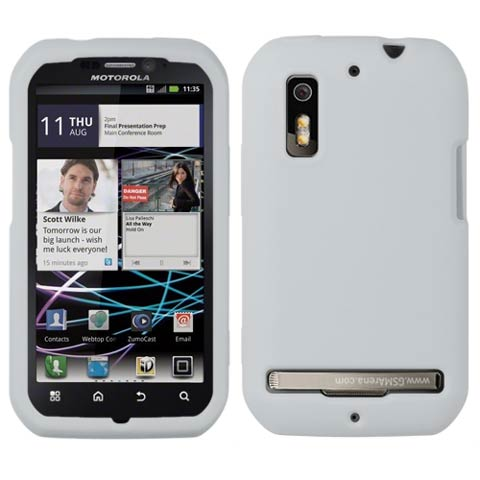 Frost White Silicone Skin Cover for Motorola Photon 4G