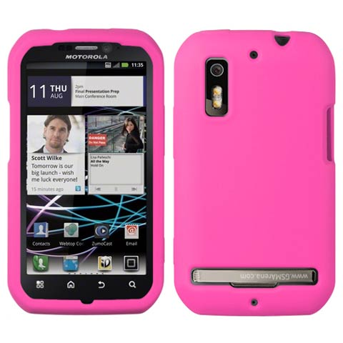 Hot Pink Silicone Skin Cover for Motorola Photon 4G