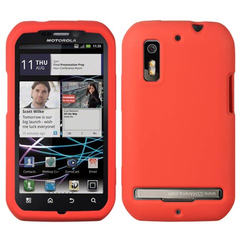 Red Silicone Skin Cover for Motorola Photon 4G