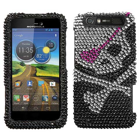 Pirate Crystal Rhinestones Bling Case for Motorola Atrix HD
