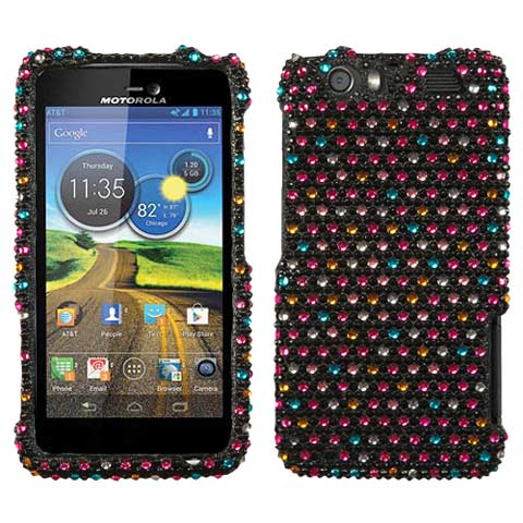 Sparkle Dots Crystal Rhinestones Bling Case for Motorola Atrix HD