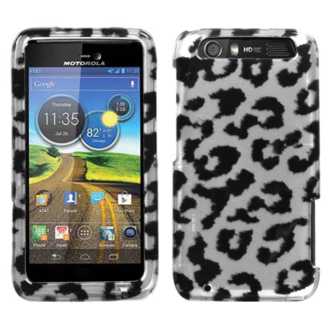 Silver Leopard Hard Case for Motorola Atrix HD