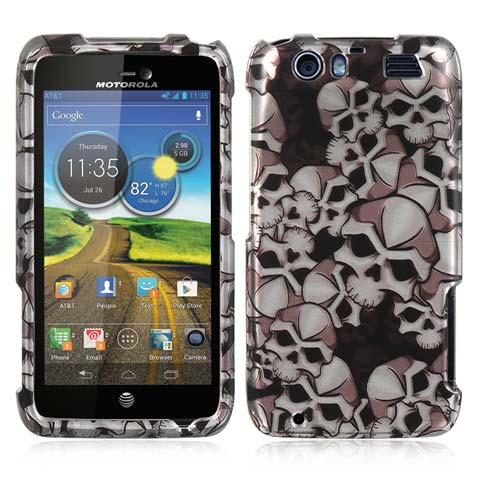 Silver Skulls Hard Case for Motorola Atrix HD