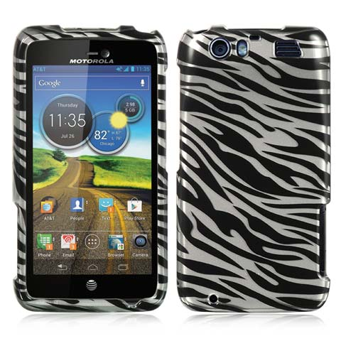 Silver Zebra Hard Case for Motorola Atrix HD