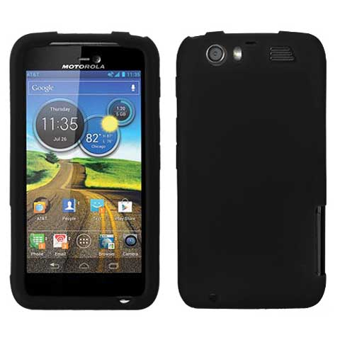 Black Silicone Skin Cover for Motorola Atrix HD