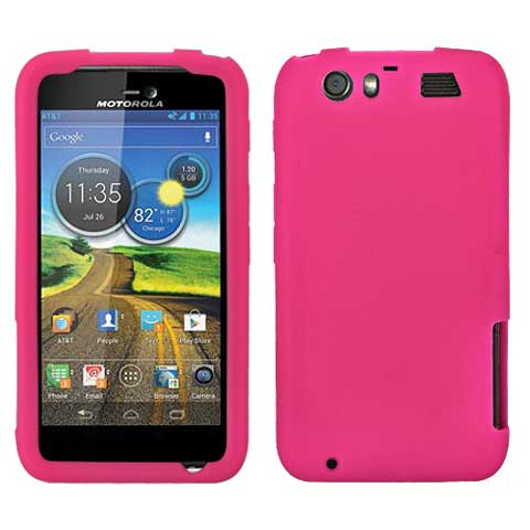 Hot Pink Silicone Skin Cover for Motorola Atrix HD