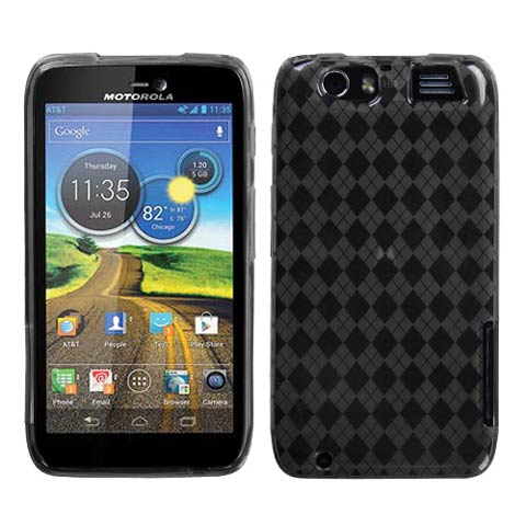 Smoke Argyle TPU Case for Motorola Atrix HD