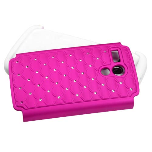 Pink Dazzler Defense Dual Layer Hybrid Case for Motorola Moto G