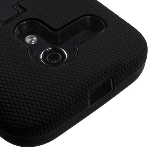 Black Symbiosis Dual Layer Hybrid Case for Motorola Moto G
