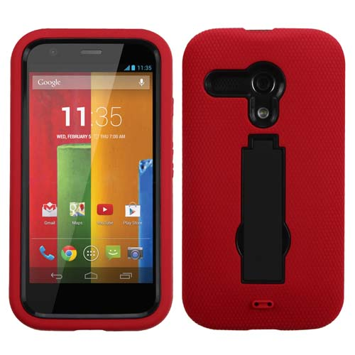 Red Symbiosis Dual Layer Hybrid Case for Motorola Moto G