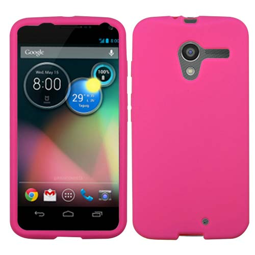 Hot Pink Silicone Cover for Motorola Moto X