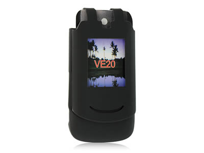 Motorola RAZR VE20 Silicone Skin Cover Case - Black