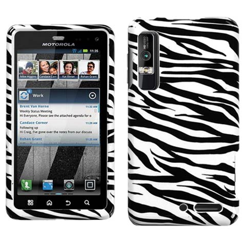 Zebra Hard Case for Motorola Droid 3