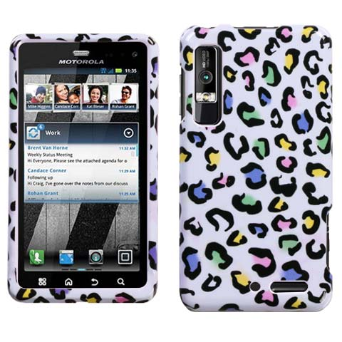 Happy Leopard Hard Case for Motorola Droid 3