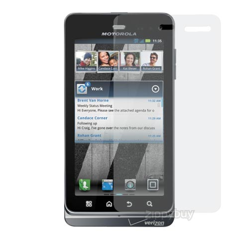 2x Multi-Pack Crystal Clear Screen Protectors for Motorola Droid 3