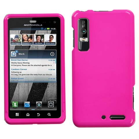 Pink Hard Case for Motorola Droid 3