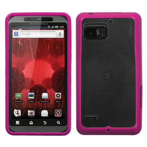 Pink and Frost Fusion Case for Motorola Droid Bionic