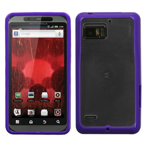 Purple and Frost Fusion Case for Motorola Droid Bionic