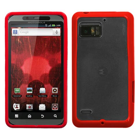 Red and Frost Fusion Case for Motorola Droid Bionic