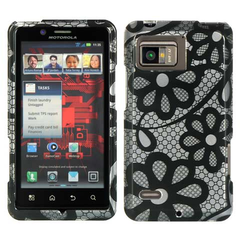 Black Lace Hard Case for Motorola Droid Bionic
