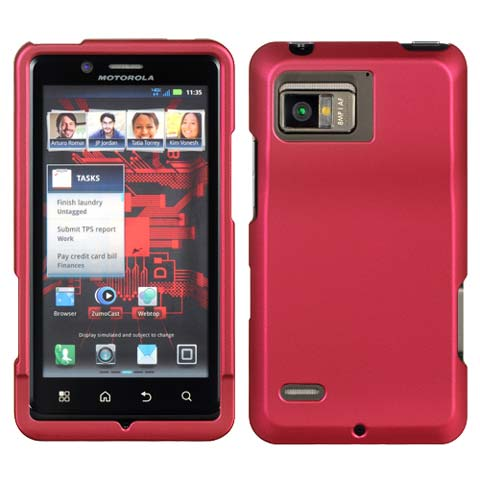 Hot Pink Rubberized Hard Case for Motorola Droid Bionic