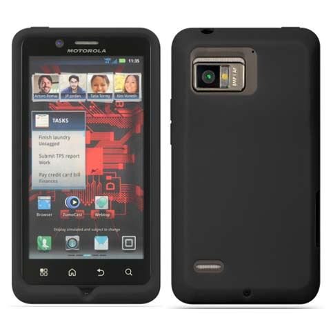 Black Silicone Skin Cover for Motorola Droid Bionic