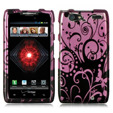 Purple Swirl Hard Case for Motorola Droid RAZR MAXX