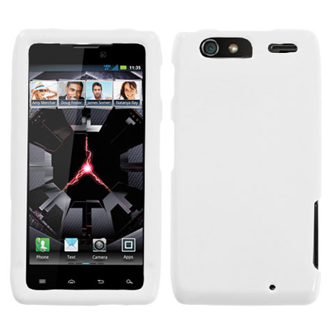 White Hard Case for Motorola Droid RAZR MAXX