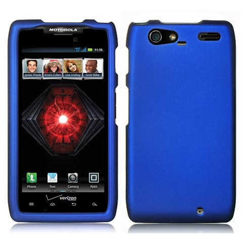 Blue Rubberized Hard Case for Motorola Droid RAZR MAXX