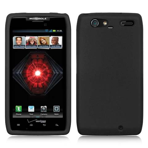 Black Silicone Skin Cover for Motorola Droid RAZR MAXX