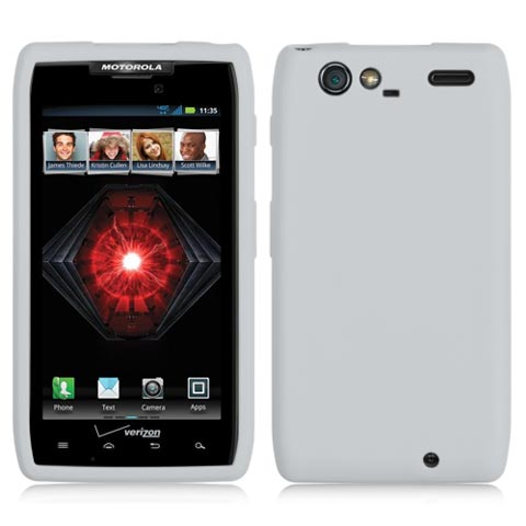 Frost White Silicone Skin Cover for Motorola Droid RAZR MAXX
