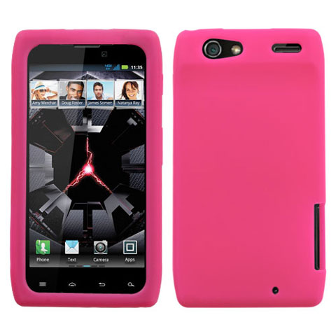 Hot Pink Silicone Skin Cover for Motorola Droid RAZR MAXX