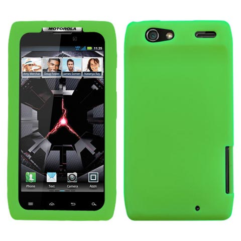 Green Silicone Skin Cover for Motorola Droid RAZR