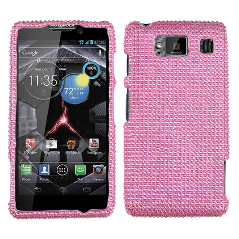 Pink Crystal Rhinestones Bling Case for Motorola Droid RAZR HD