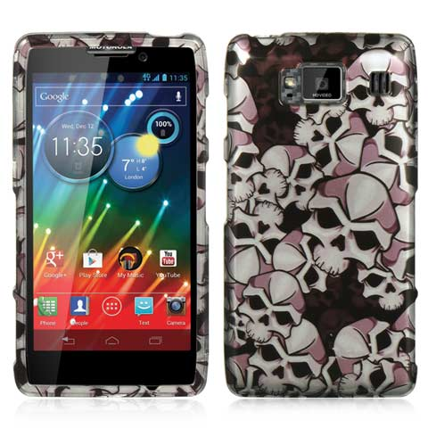 Silver Skulls Hard Case for Motorola Droid RAZR HD